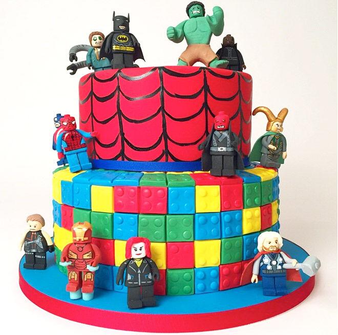 Birthday Cakes for Boys: Lego Superhero Cake via @charmcitycakes   Mum's Grapevine