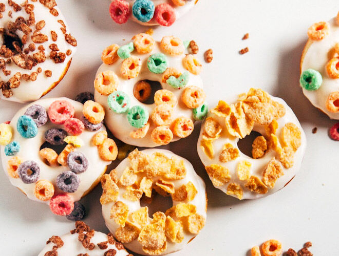 Breakfast Cereal Cake Doughnuts | Mum's Grapevine