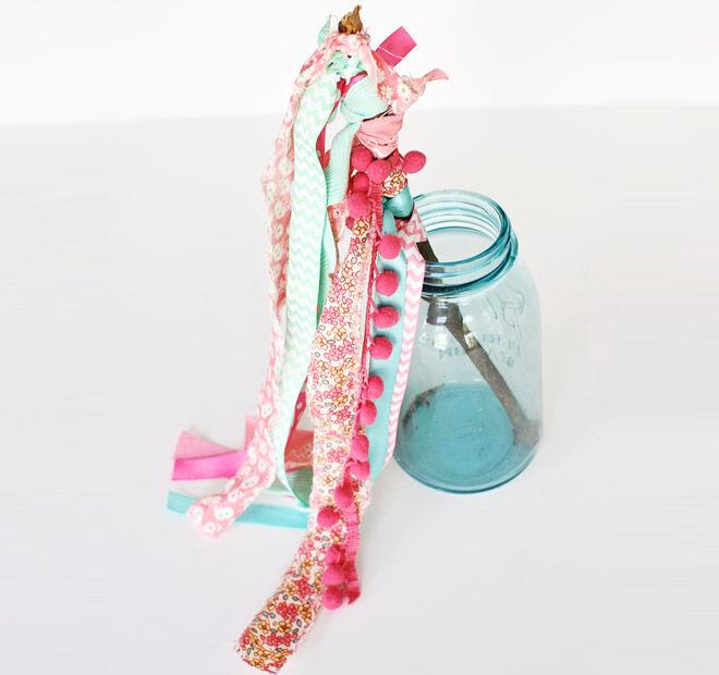 Stick and Pom Pom Fairy Wand
