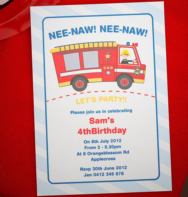 How to host a fireman party – Fireman Party Invitations