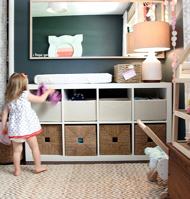 IKEA hack - Turn your KALLAX bookshelf into a handy change table! | Mum's Grapevine
