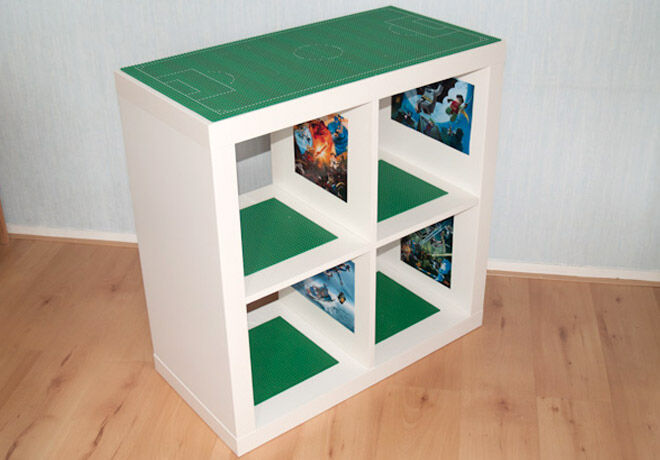 IKEA Hack - LEGO table made from KALLAX bookshelf | Mum's Grapevine