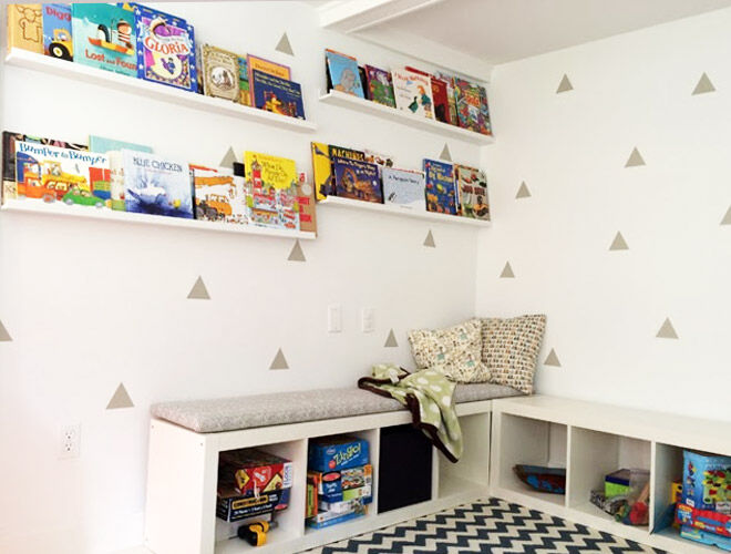 IKEA Hack - The KALLAX bookshelf makes a great reading nook for the kids | Mum's Grapevine