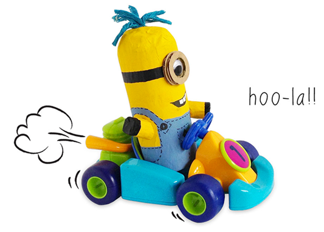 How to make a minion out of toilet rolls