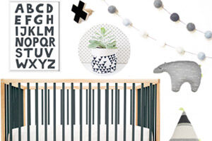 Monochrome nursery design | Mum's Grapevine