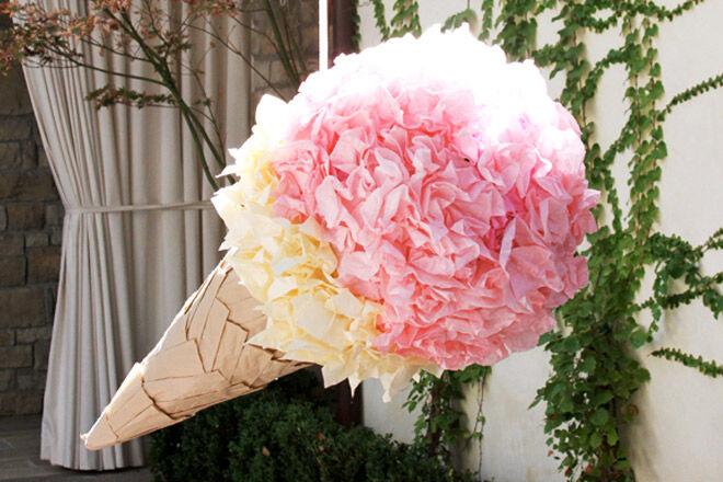 DIY Ice Cream Pinata via Lily Shop