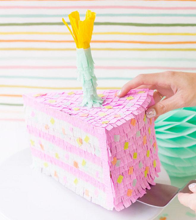 Birthday Cake Pinata DIY via Studio DIY