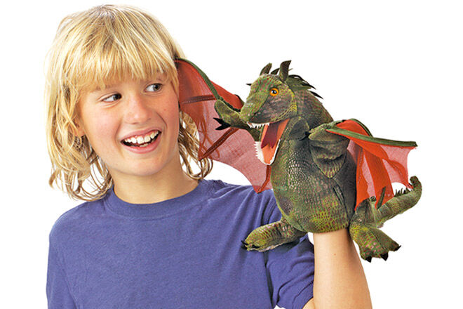 Folkmanis Dragon Hand Puppet - Voted best toy for pretend fantasy play