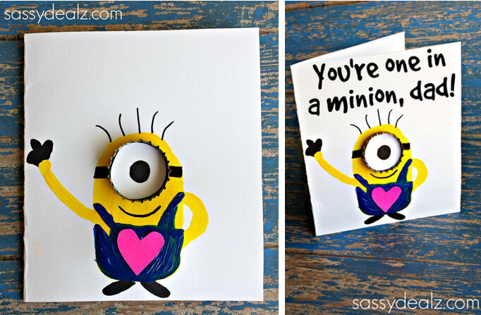 11 easy peasy minion craft ideas mums grapevine minion craft cards solutioingenieria Gallery