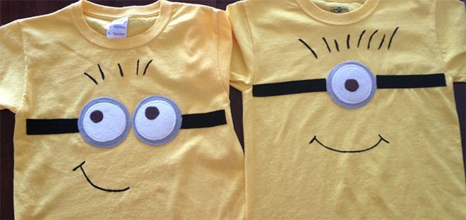 Make a Minion T-shirt for your kids Minion party! | Mum's Grapevine