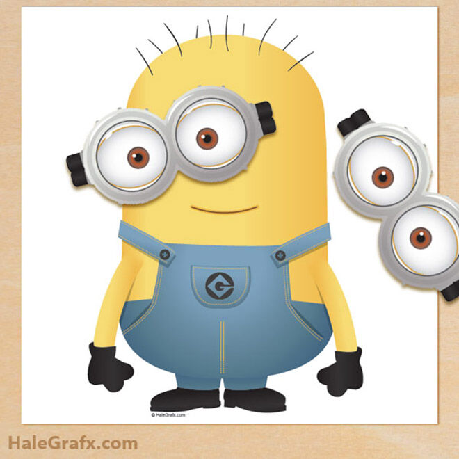 Pin the goggles on the Minion! Fun game for play time and Minion parties | Mum's Grapevine