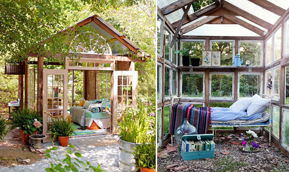 she shed beautiful outdoor bedroom - She Shed