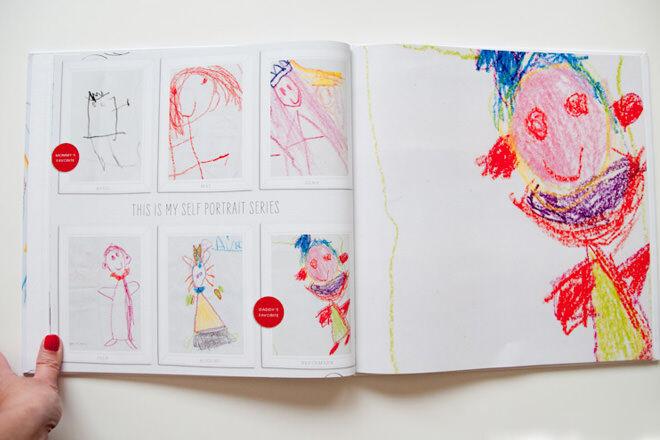 Ways to display your kids artwork: Scrapbook   Mum's Grapevine