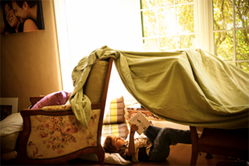 Forts made out of bedsheets