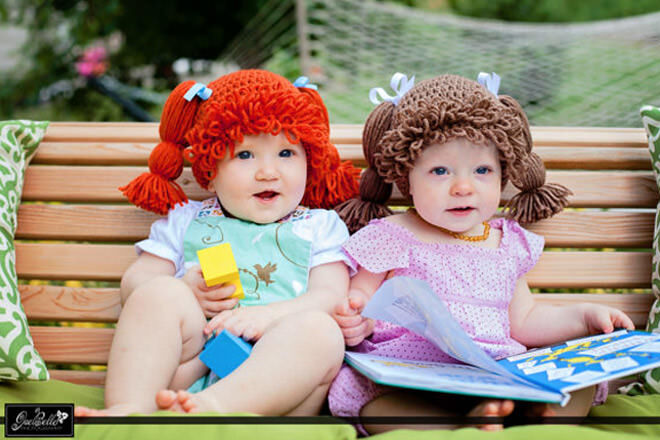 Cabbage Patch kids wigs Inspired Crochet Hats  2f7a25a2ceb