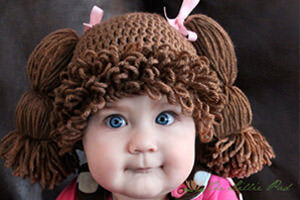 Cabbage Patch Kid Crochet Hat