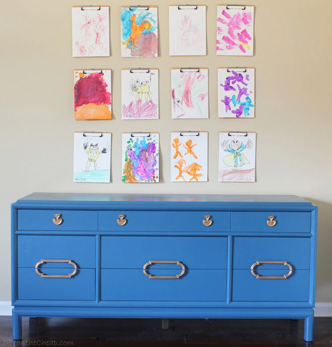 Organize Your Clothes 10 Creative And Effective Ways To Store And Hang Your Clothes: 10 Ways To Display Kids Artwork