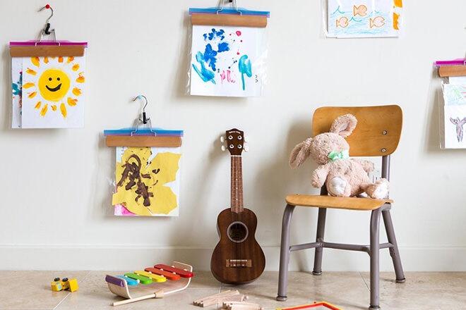 10 ways to display kids artwork
