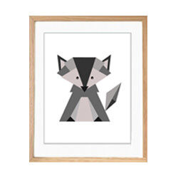 Etsy Grey Fox Art