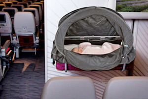 Get out and about with your baby without disturbing their routine. The Fly Babee is a great solution for flying with baby too.