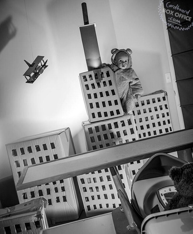 Cardboard Box Office re-create King Kong with the help of their baby