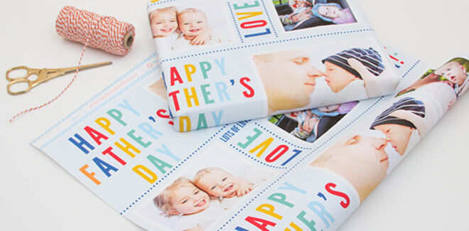 Personalised photo wrapping paper from Love JK