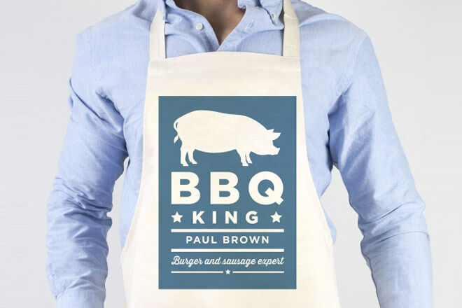 Father's Day Gift Ideas for Foodie Dads: Personalised BBQ King Apron | Mum's Grapevine
