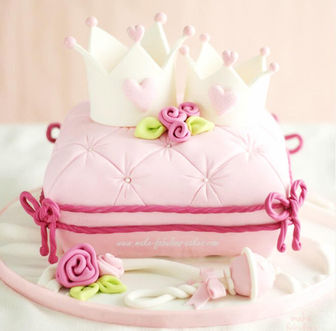 When a princess is without her crown it can often be found resting upon a velvet cushion - how royal!