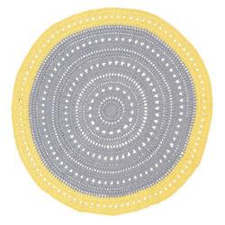 Yellow & Grey Floor Rug