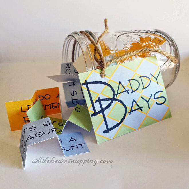 12 Cute craft ideas for Father's Day: A 'Daddy Days' jar. Super easy for the kids! | Mum's Grapevine