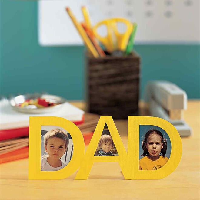 Easy craft ideas for Father's Day: Personalised photo frame   Mum's Grapevine