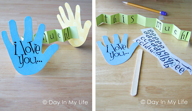 12 Easy DIY gift ideas for Father's Day: Make this 'I Love You' card for dad | Mum's Grapevine