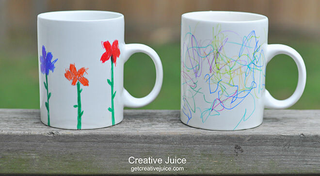 12 easy DIY gift ideas for Father's Day: Draw on mugs with Sharpie markers! | Mum's Grapevine