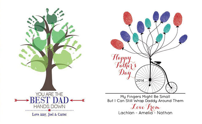 12 Easy Craft Ideas for Father's Day: Handprint and Fingerprint Artwork   Mum's Grapevine