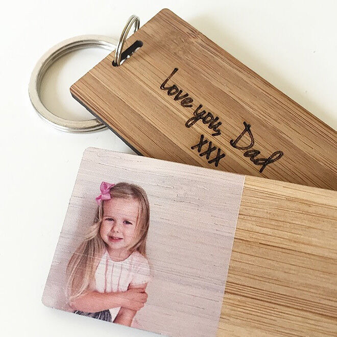 Gift Guide for New Dads: Personalised Photo Key Ring | Mum's Grapevine