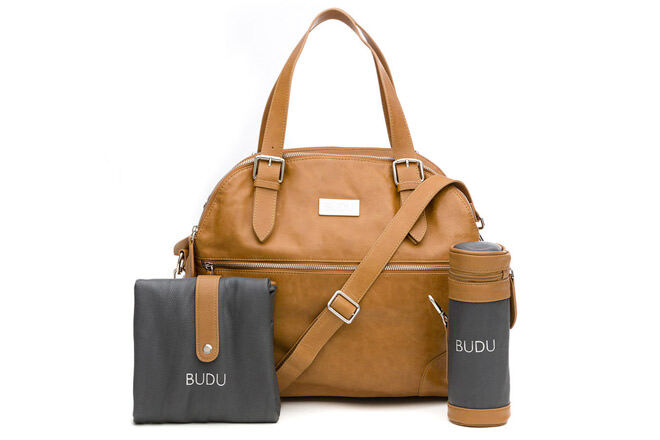 The baby bag from Budu is stylish while being incredibly practical