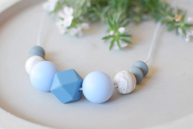 Cheeky and Me teething necklace