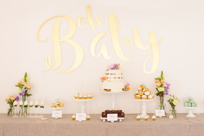 Mum's Grapevine presents Elise Swallow's baby shower with dessert table by Burnt Butter