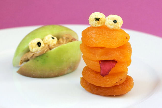 Fruit monsters make awesome Halloween lunch bites.