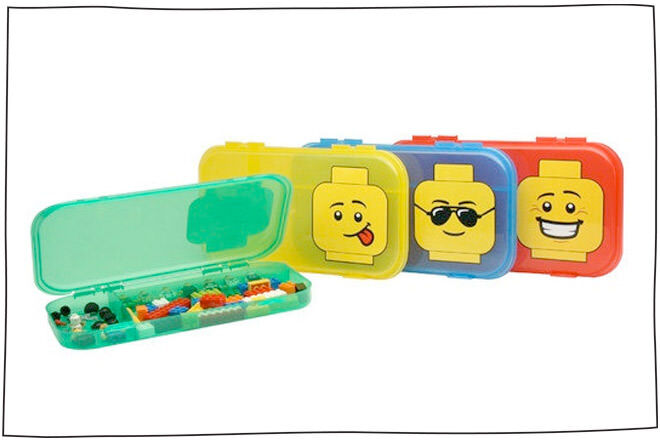 LEGO cases - A great idea to keep in your handbag for those times when you're stuck waiting and the kids are bored.