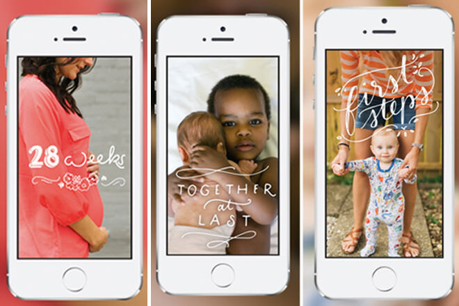 The Obaby milestone app features a range of original, fun and quirky illustrations, borders and doodles to use with photos of your kiddies.