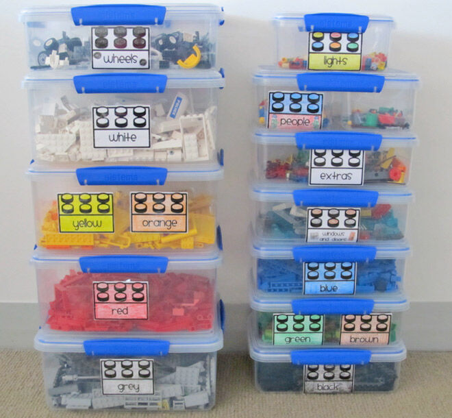 Use the Sistema containers to divide all you LEGO into colours.
