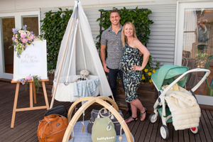 WIn Andrew Swallow's baby shower