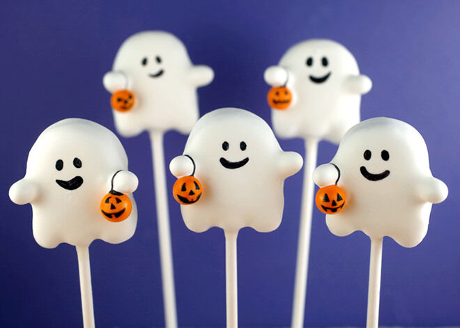 The kids will be spooked into a sugar high with these ghostly cake pops