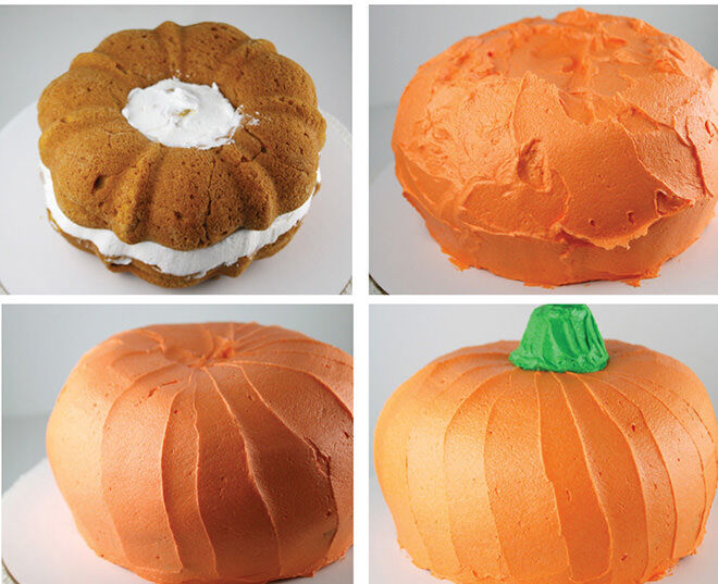 If you make a cake into a pumpkin it is healthy - right? Perfect for Halloween!