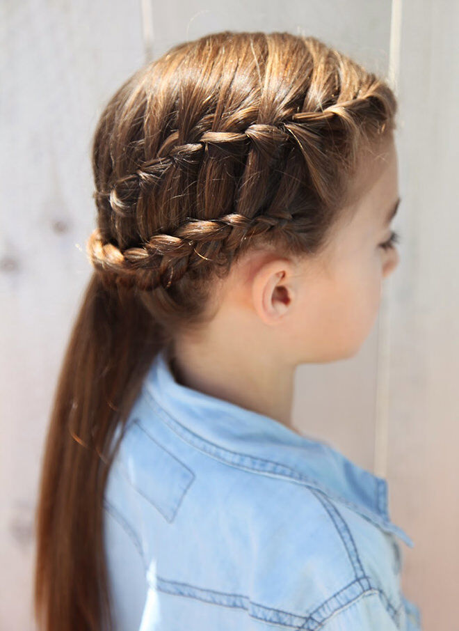 This is a combination of a waterfall braid and a dutch braid and it looks amazing!