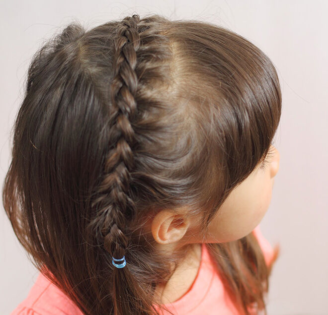 Try a braid starting from one side and go over to the other side.