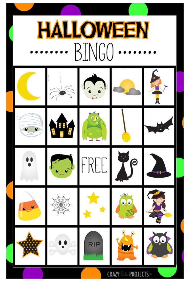 Skulls, witches, monsters....Halloween BINGO! A great game to play with those crazy little spooksters.