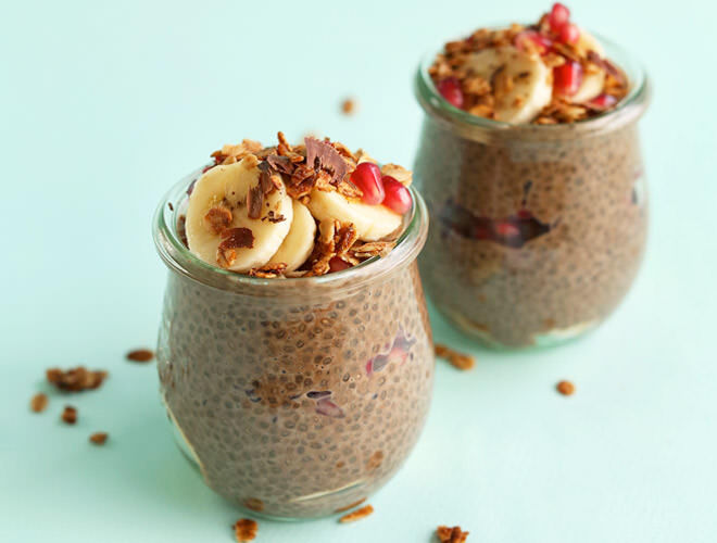 Chia pudding is a great breakfast to make the night before. Simply leave in the fridge and eat in the morning!