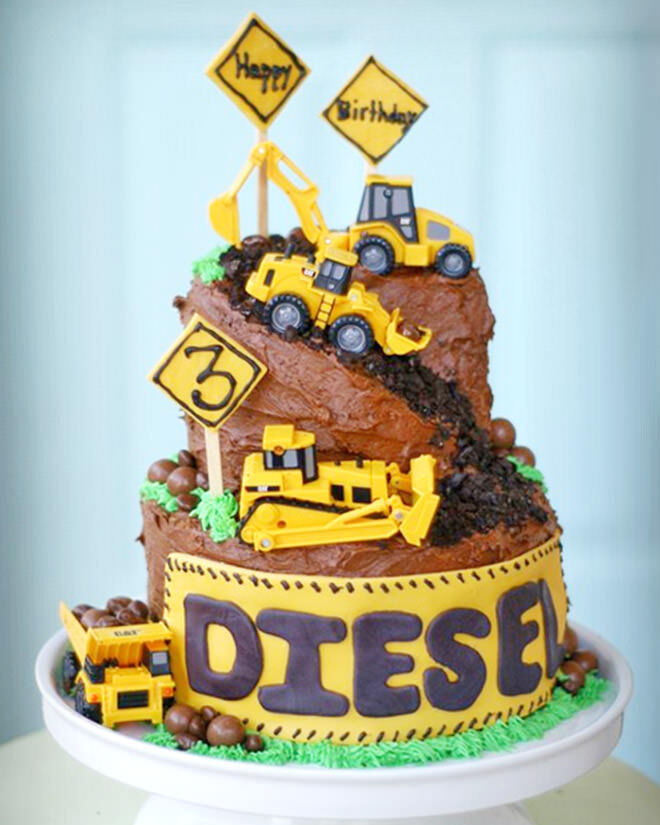 Birthday Cake Ideas Digger : Cakespiration: 12 construction cakes they ll really dig ...